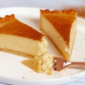 South African Milk tart slices