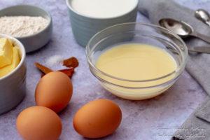 South African Milk tart filling ingredients
