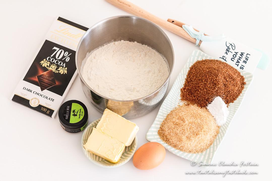 Chocolate Chunk Pecan Cookie ingredients