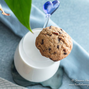 Chocolate Chunk Pecan Cookie and milk