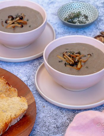 Gluten Free Cream Mushroom soup for dinner