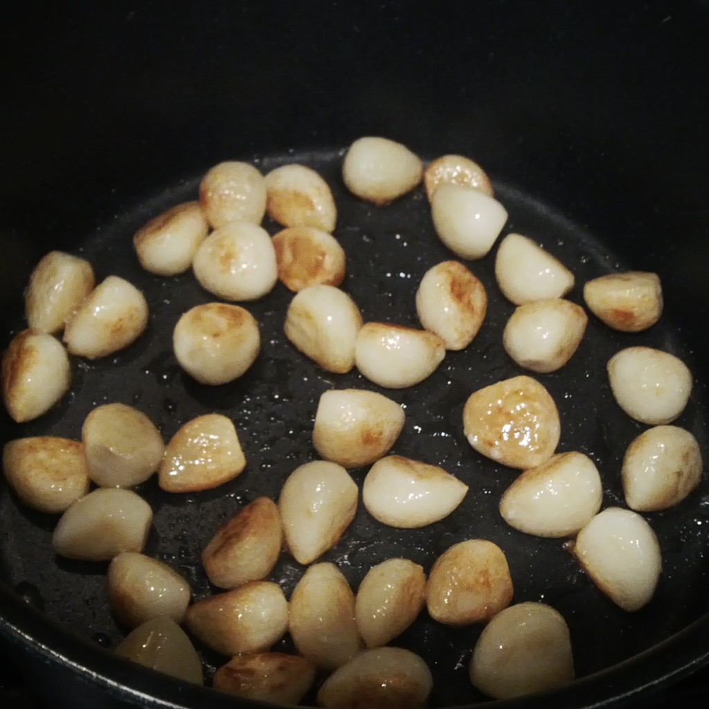 Sauteed garlic