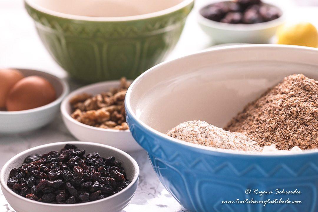 Raisin and bran refrigerator muffin ingredients