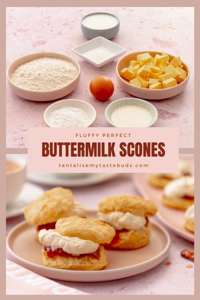 Fluffy Perfect Buttermilk scones pin 1