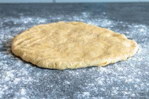 Fluffy perfect buttermilk scone dough flattened