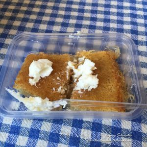 Kadayif with clotted cream
