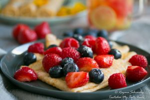Iftar Ramadhan traditions -Pancakes with fresh berries