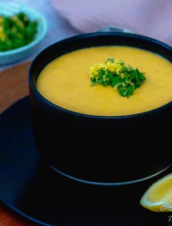 Vegan Red Lentil Soup for dinner