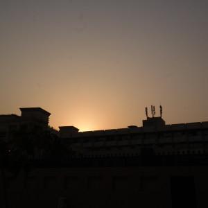 Before sunset at Al Ahmadiya school