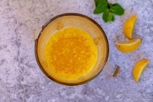 Mango Orange Aguas Frescas blended