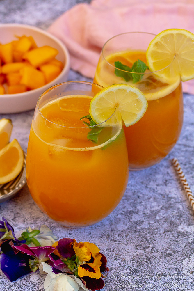 Mango Orange Aguas Frescas for two