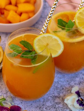 Mango and orange aguas frescas 1