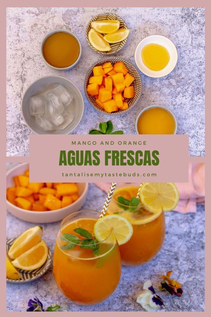 Mango and orange aguas frescas pin1