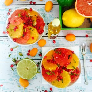 Citrus salad with pistachio and pomegranate 1