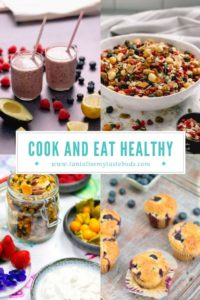 Cook and Eat healthy for 30 days pin collage