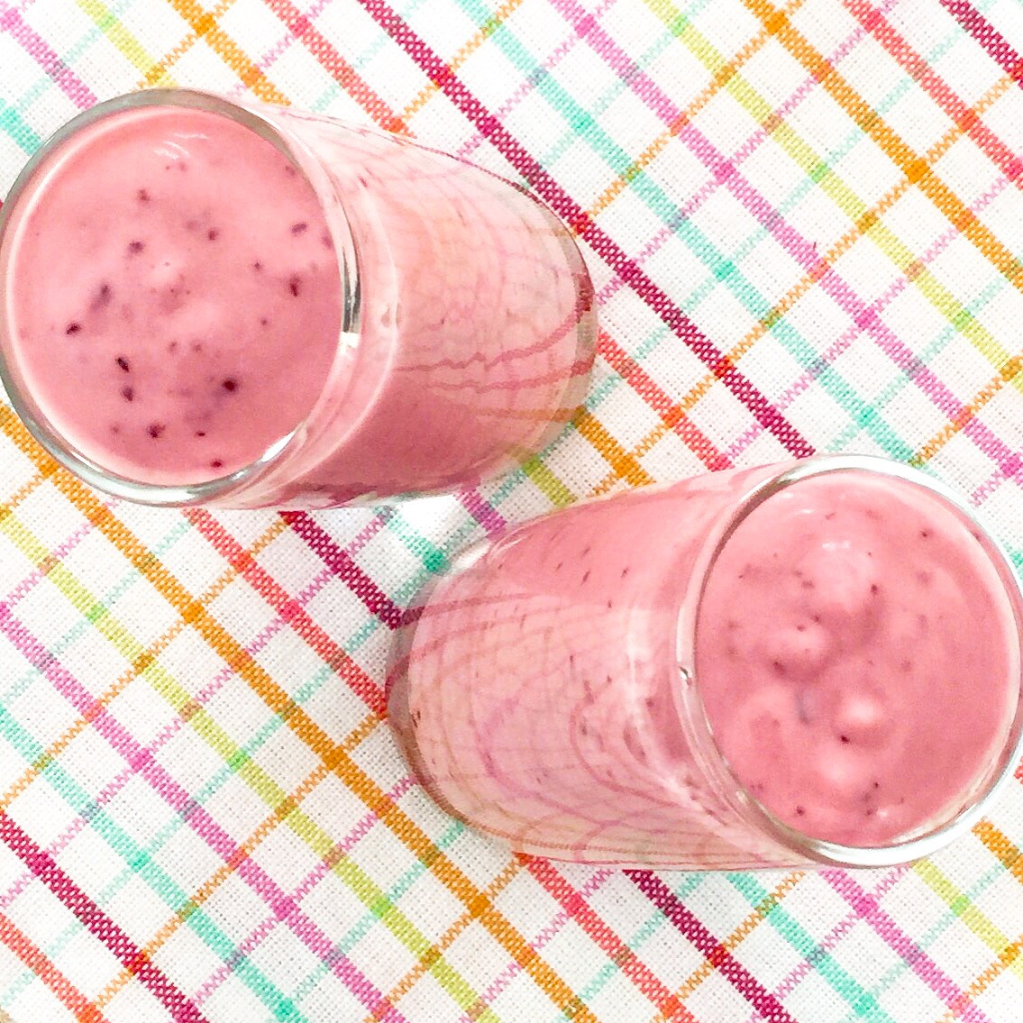 Blueberry and raspberry smoothie