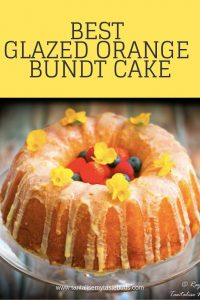 Best Glazed Orange Bundt cake
