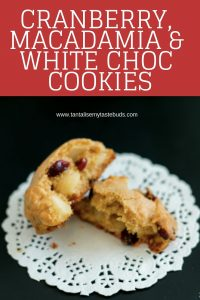 Cranberry Macadamia and White Chocolate Cookies