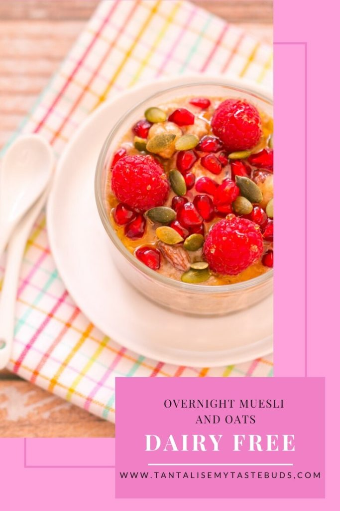 Dairy Free Overnight Muesli and Oats breakfast pin