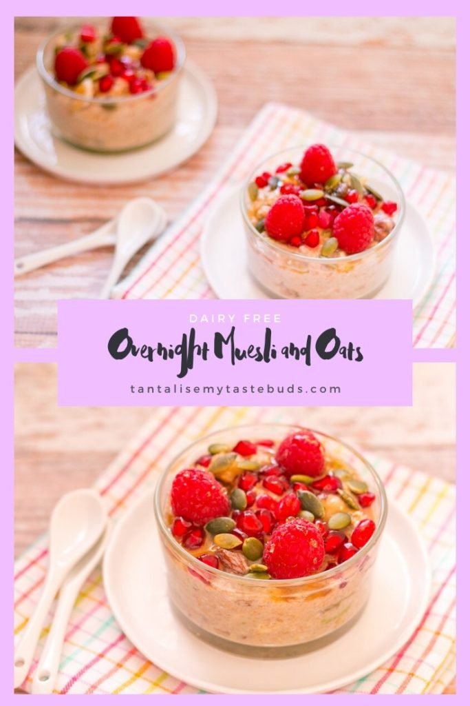 Dairy Free Overnight Muesli and Oats breakfast pin
