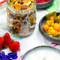 Greek yogurt and granola with berries