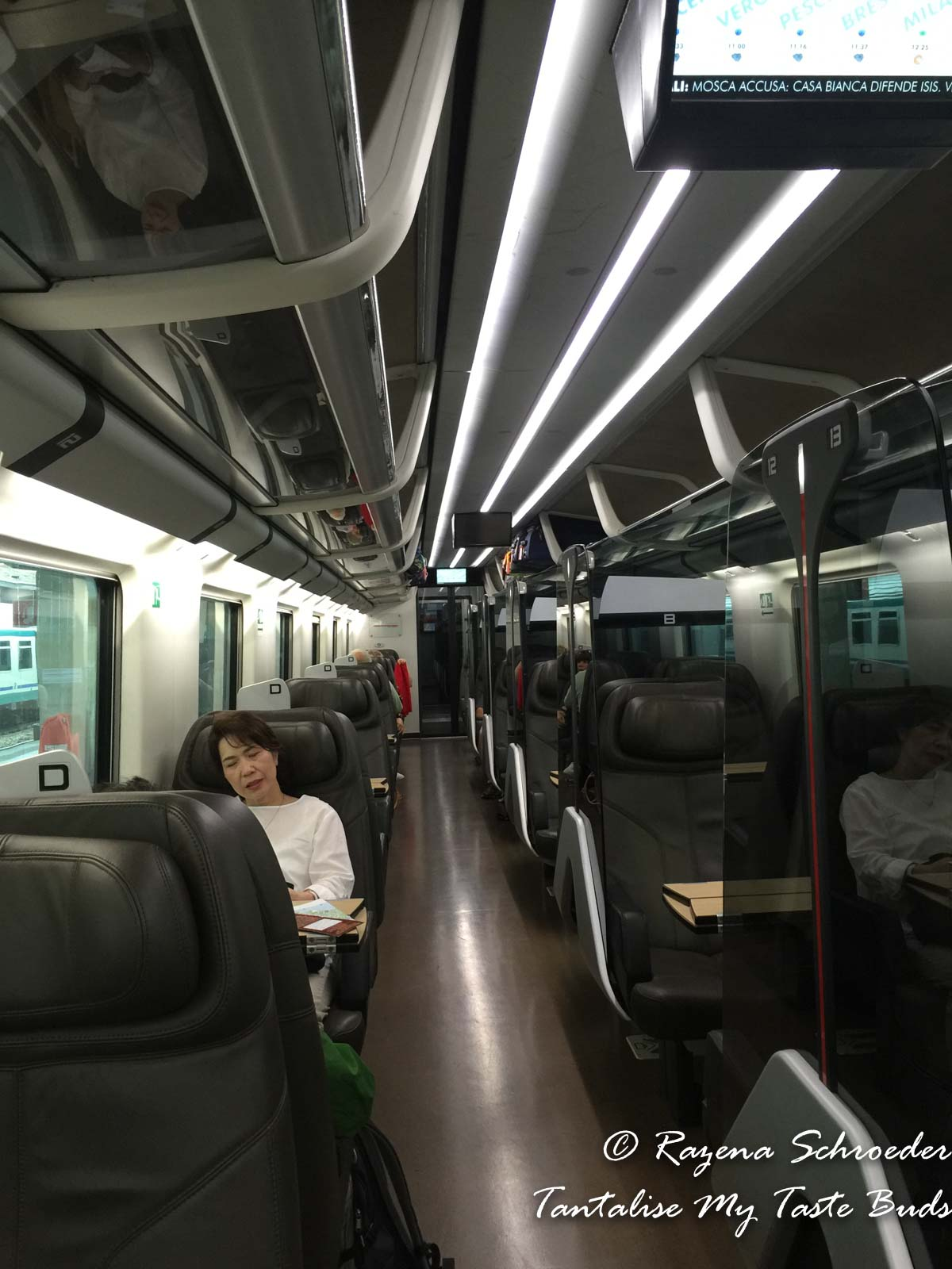 Business class in Italian High Speed train from Venice to Milan