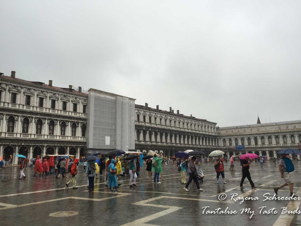 Venice Piazza San Marco in the late summer rain