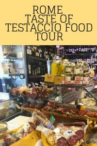 Salumi and cheese on Taste of Testaccio food tour