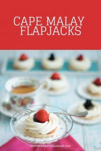 South African Flapjacks - mini pancakes with cream and fresh fruits