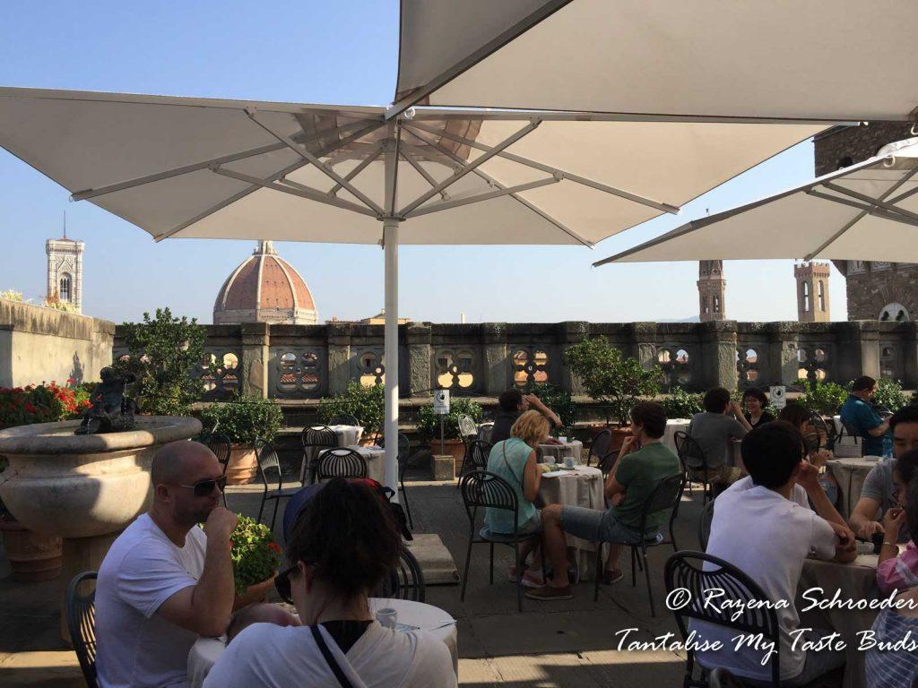 Uffizi gallery view of Duomo Florence