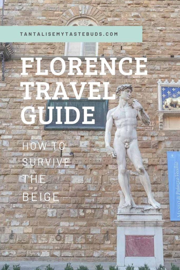 Michelangelo's David statue copy on Piazza della Signora