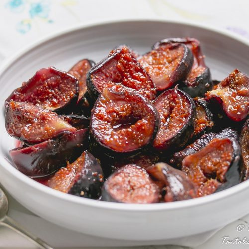Roasted figs with and honey and orange