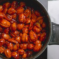 Kumquats in vinegar, sugar and spice mix