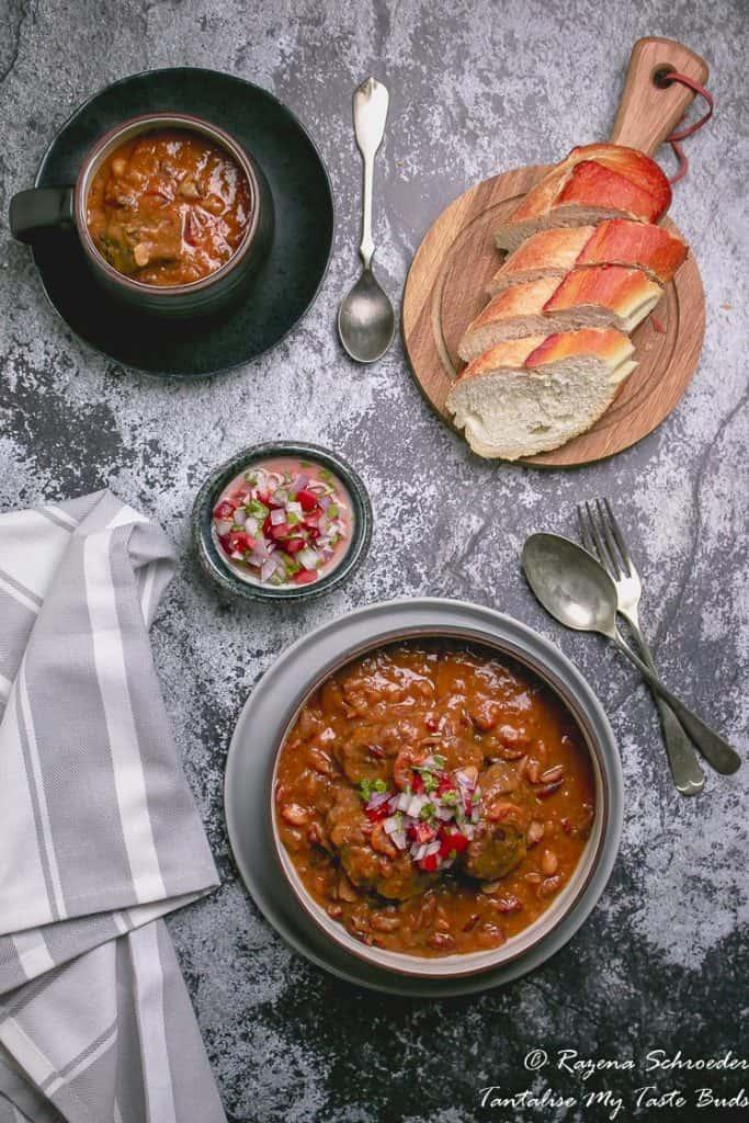 Cape Malay Sugar Bean bredie and soup