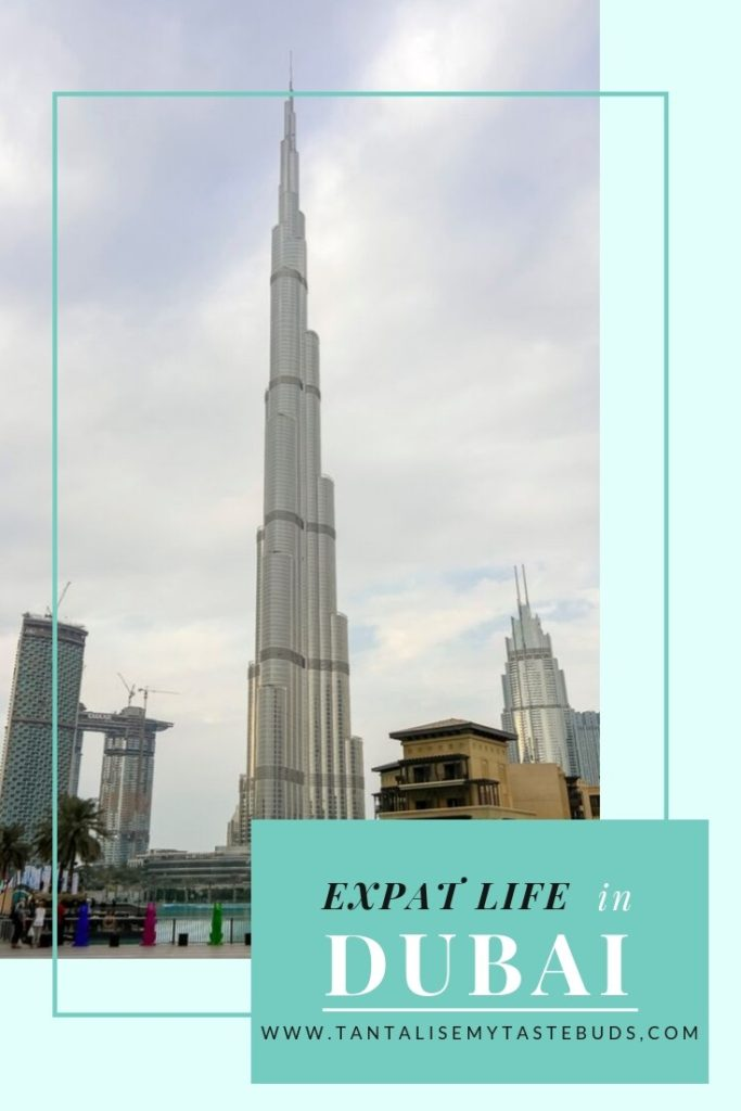 Burj Khalifa view from the promenade