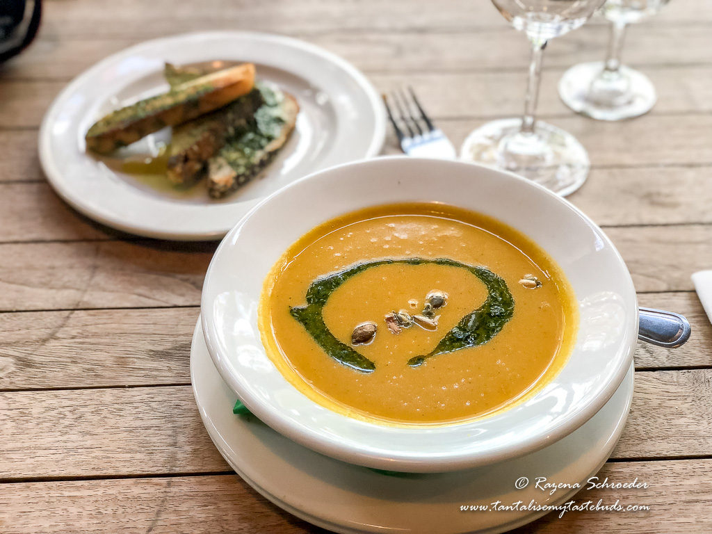 Fairview Farm roasted pumpkin soup