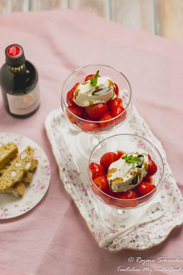 Macerated Strawberries and Mascarpone Cream