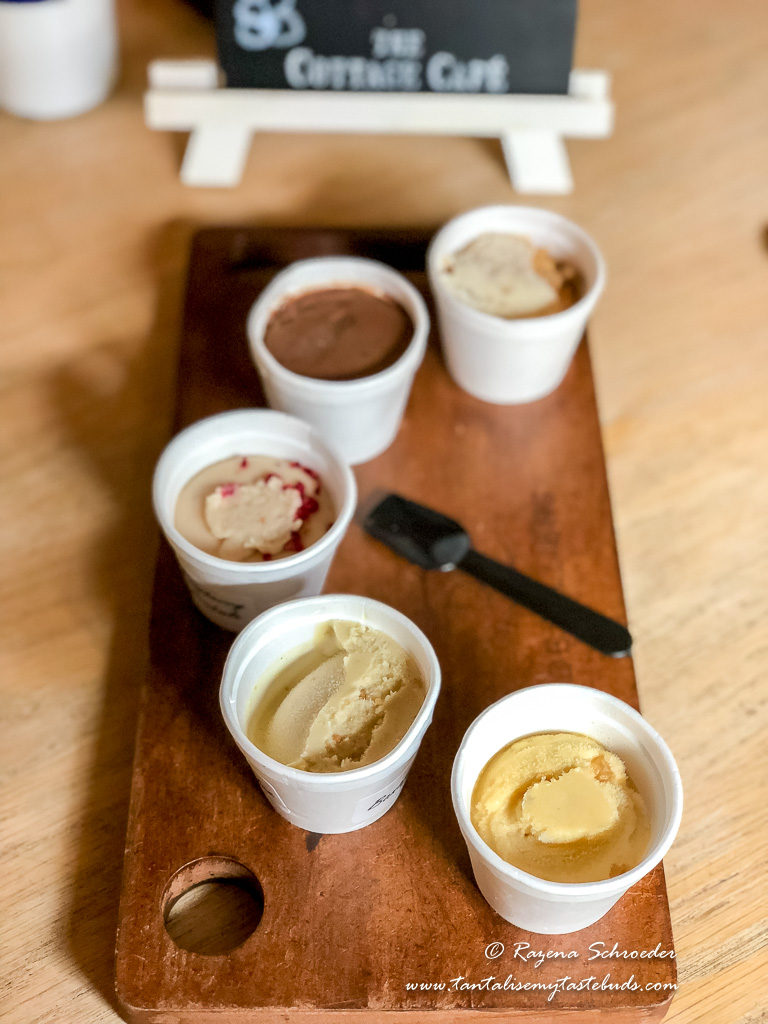 Ice cream tasting at De Villiers Chocolate Café