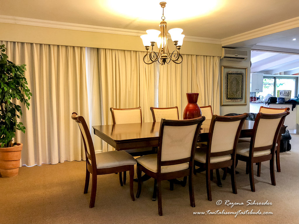 Dining room in villa at Val D'Or Estate Franschhoek