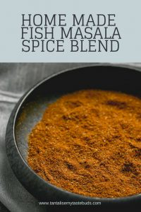 Home made Fish Masala spice blend pin