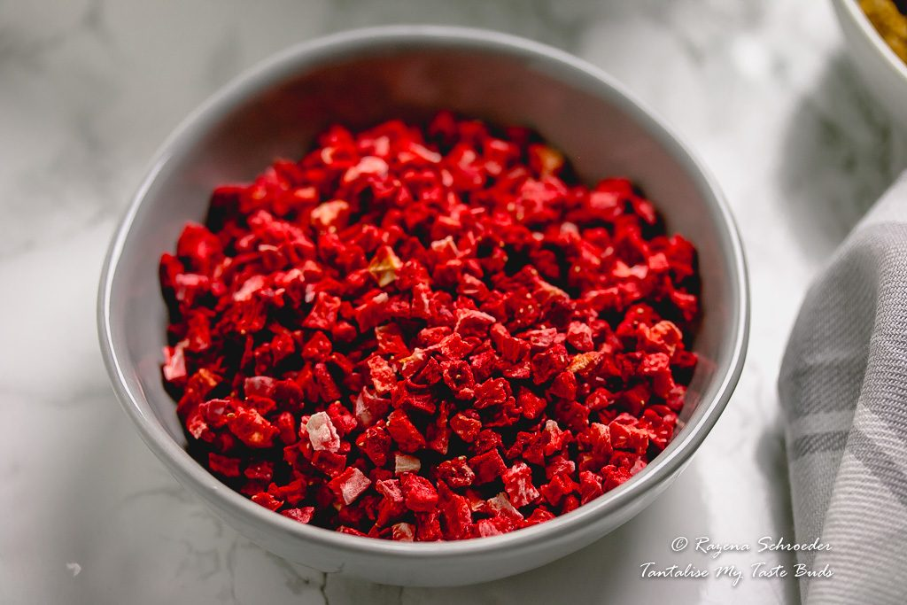 Dried strawberry bits