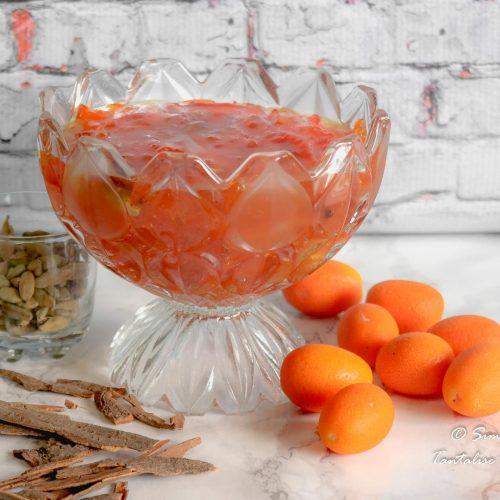 Bowl of Easy Spiced Kumquat Marmalade Jam