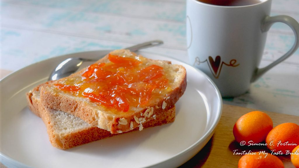 Toast with Easy Spiced Kumquat Marmalade Jam