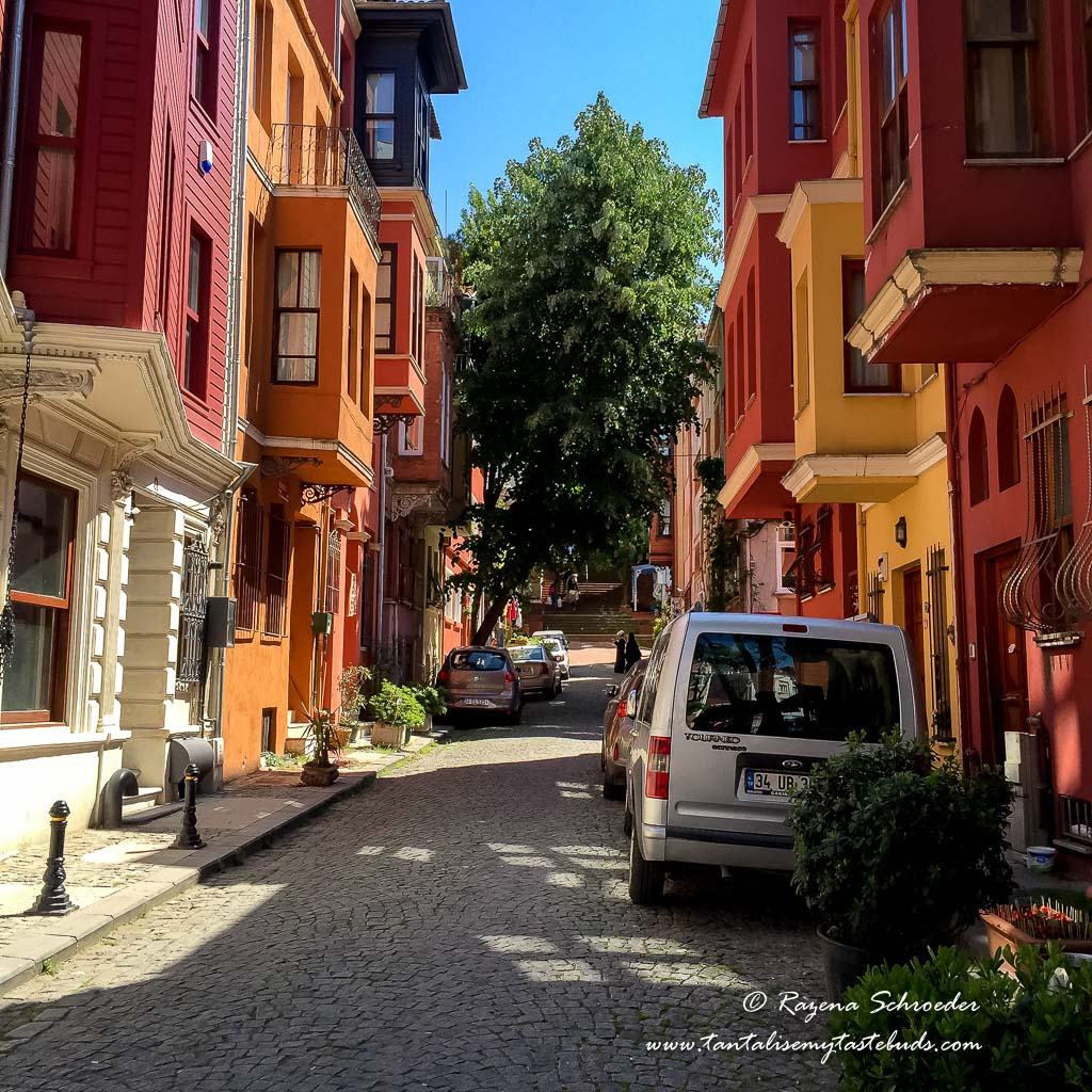 Residential street in Istanbul Asian side