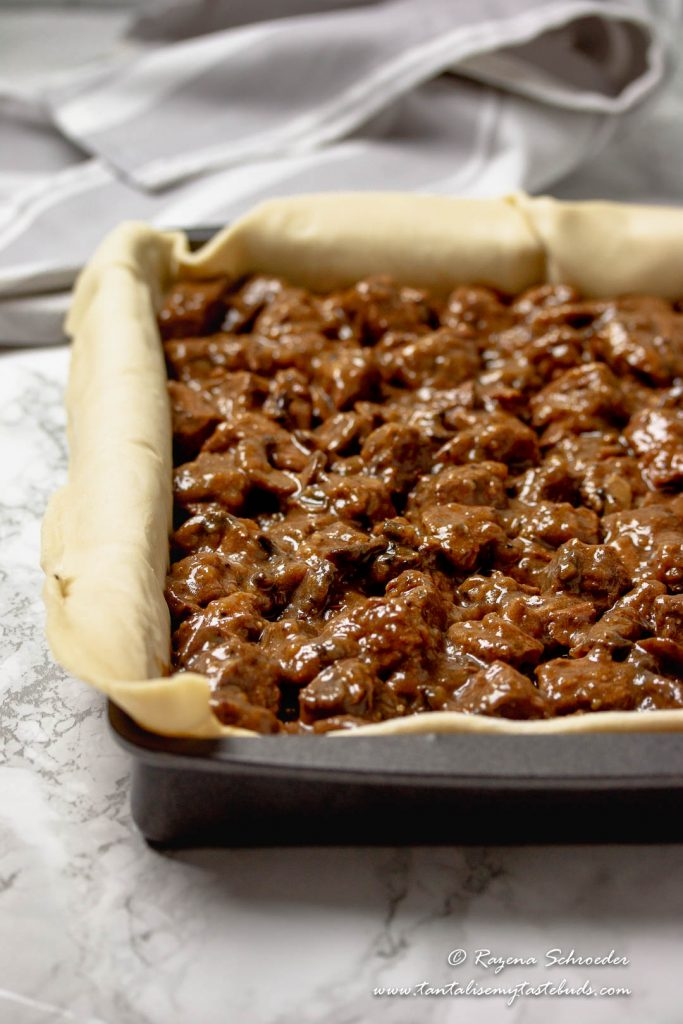 Cape Malay Pepper Steak Pie without pastry lid