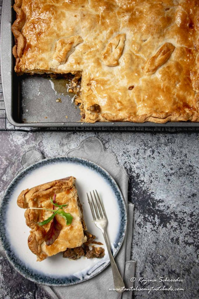 Cape Malay Pepper Steak Pie dinner