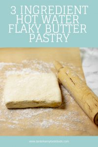 Easy Hot Water Flaky Butter Pastry pin