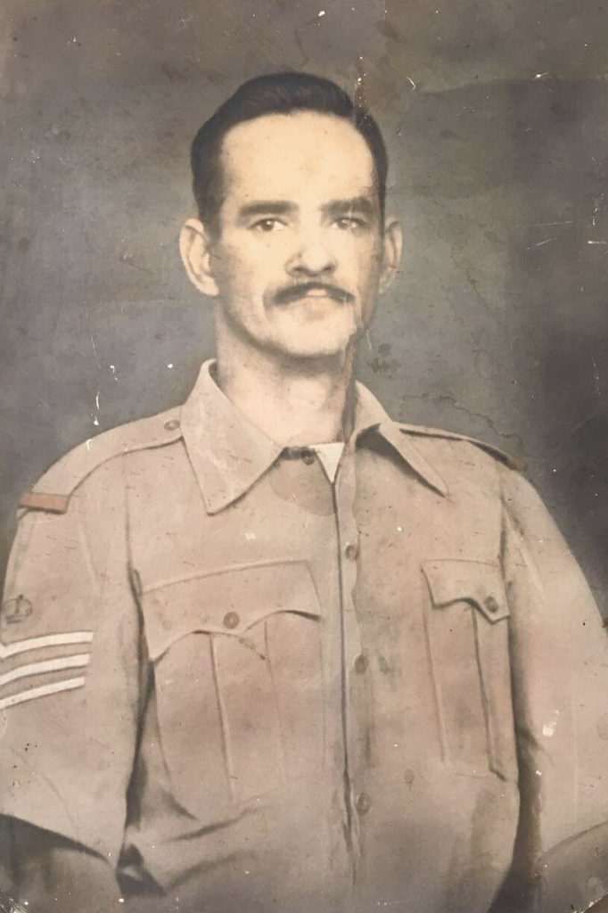 Paternal grandfather Ismail Schroeder in uniform