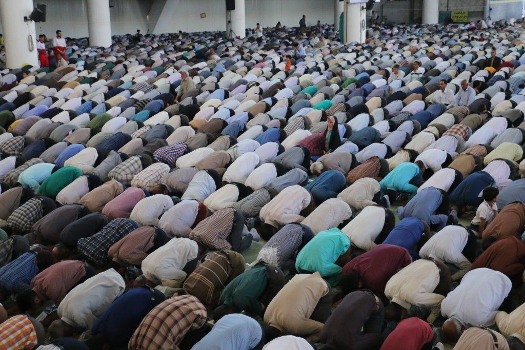 Ramadhan traditions - Men performing congregational prayer