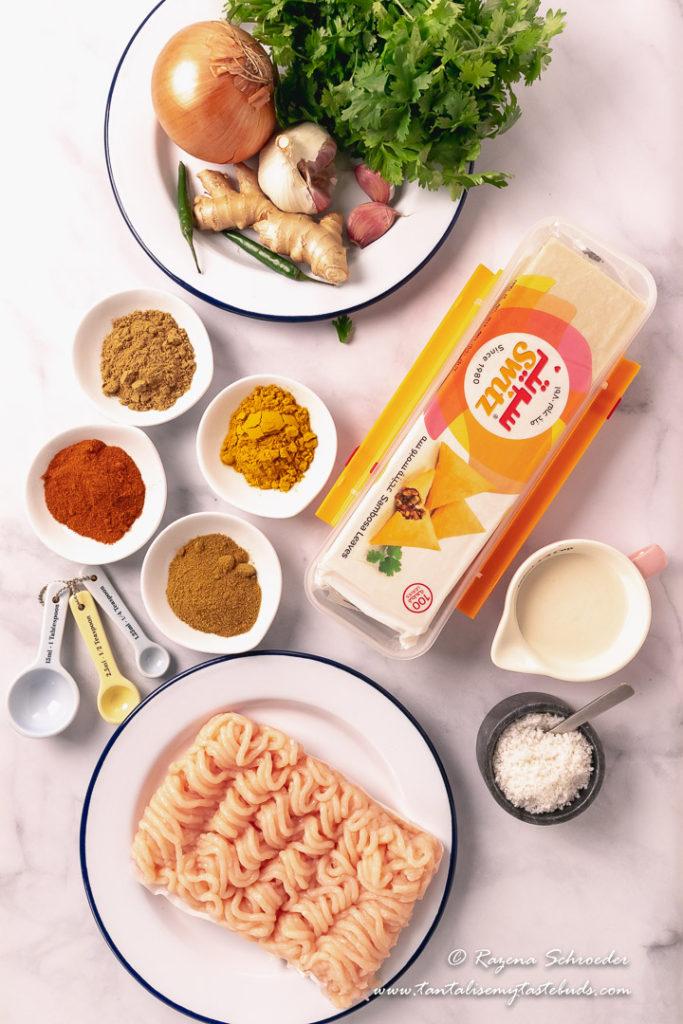 Cape Malay Chicken Samoosa ingredients